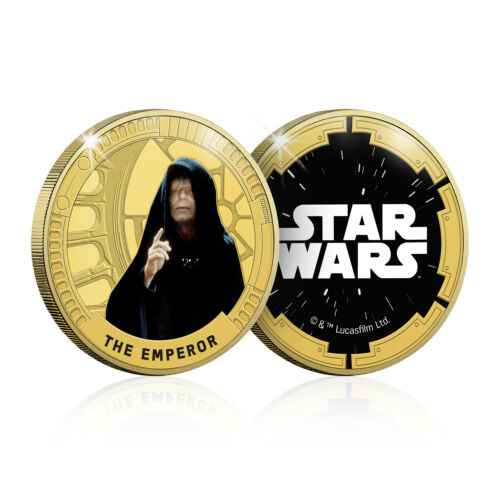 Star Wars Gifts Limited Edition Collectable The Emperor Gold Plated Coin Medal