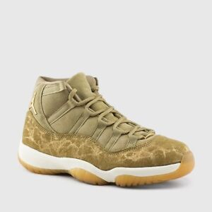 7d36d074459 Nike Air Jordan Retro XI 11 Neutral Olive Sail Gum Light Brown ...