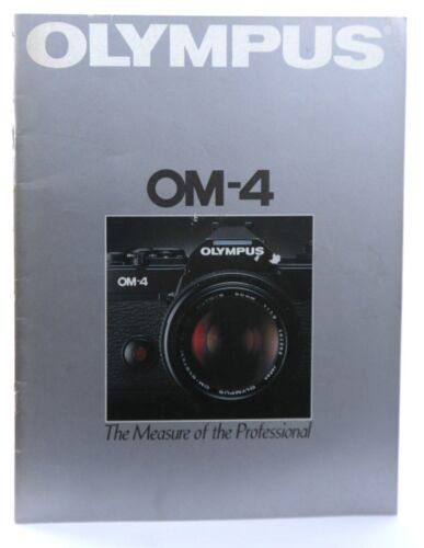 Olympus OM-4 35mm SLR Camera Booklet Promotional Material 42 Pages