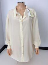 STELLA MCCARTNEY cream 100% Silk Shirt Top £500 Size 44 Uk 14 New BNWTS  Blouse