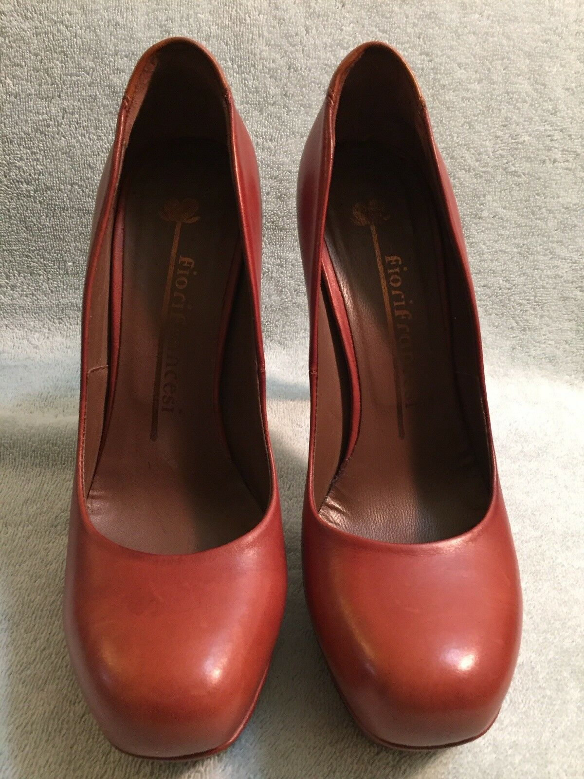 FIORIFRANCESI Pumps Donna Browen Pelle Shoes Size 38.5Us 8 Made In Italy