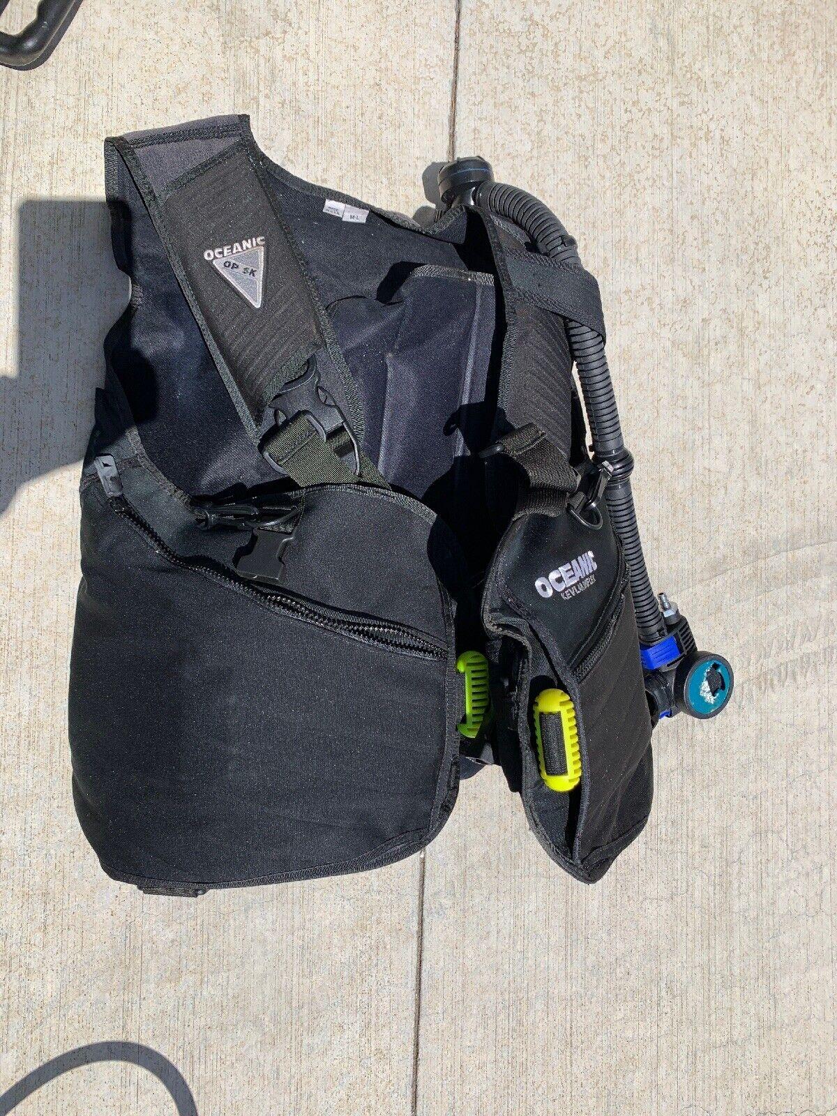 Oceanic OP5K Kevlar Bioflex BC Vest, Large Integrated Weights