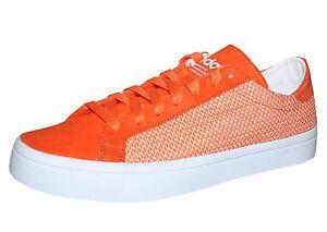 Adidas-Courtvantage-Low-Damen-Sneaker-Canvas-Freizeitschuhe-orange-Gr-40-2-3