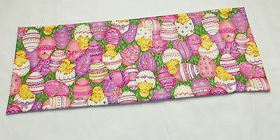 Handmade Easter decor MINI table runner Toilet Tank Topper pink chicks eggs