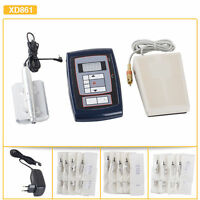 Permanent Eyebrow Make Up Rotary Tattoo Complete Kit With Pedal And Needles