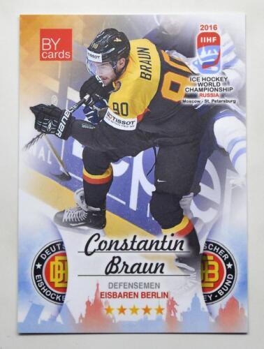 2016 tarjetas por equipo de campeonato mundial IIHF Alemania elige una tarjeta de jugador