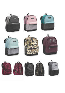 c63dc85291 Image is loading New-VICTORIA-SECRET-PINK-Campus-Backpack-Collegiate- Backpack-