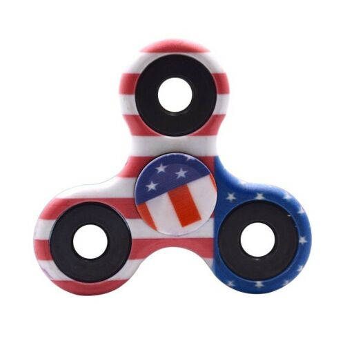 3D AU Fidget Hand Finger Spinner EDC Focus Stress Reliever Toys For Child Adults