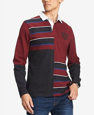 $270 Tommy Hilfiger Mens Red Gray White Blue Long Sleeve ...