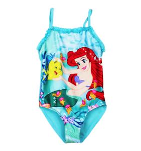 Neuf Disney Arielle Fille Maillot De Bain Combinaison Taille 98//104 110//116