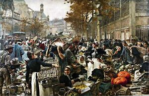 Main-Market-of-Paris-by-Leon-Lhermitte-City-Art-Repro-choose-Canvas-or-Paper