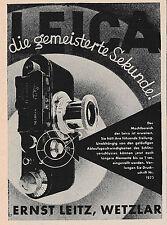 1933 Leitz Leica Die gemeisterte Sekunde 1825 ca. 7x10 cm original Printwerbung