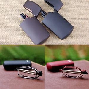 Portable lettura pieghevole Occhiali rotazione degli occhiali +1,5 +2,0 +2,5