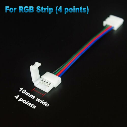 10cm-10M RGB RGBW LED Strip Schnel Anschluss Verlängerungs Clip Verbindung Kabel