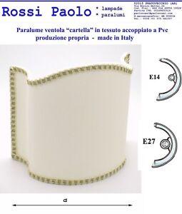 Dettagli su Paralume classico ventola mod. cartella in tessuto e PVC made in Italy