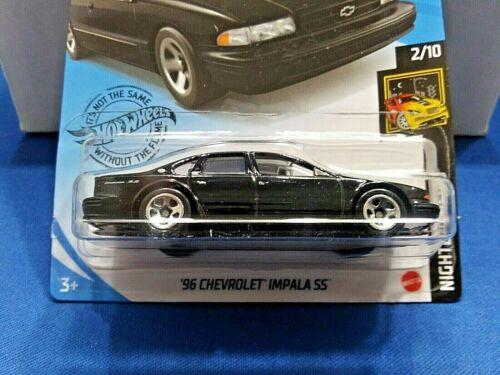 Hot Wheels 2020 HW Nightburnerz Black /'96 Chevrolet Impala SS New For 2020