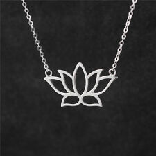 Lotus Flower Pendant Necklace Sterling Silver 18 inch chain, Lotus Gift