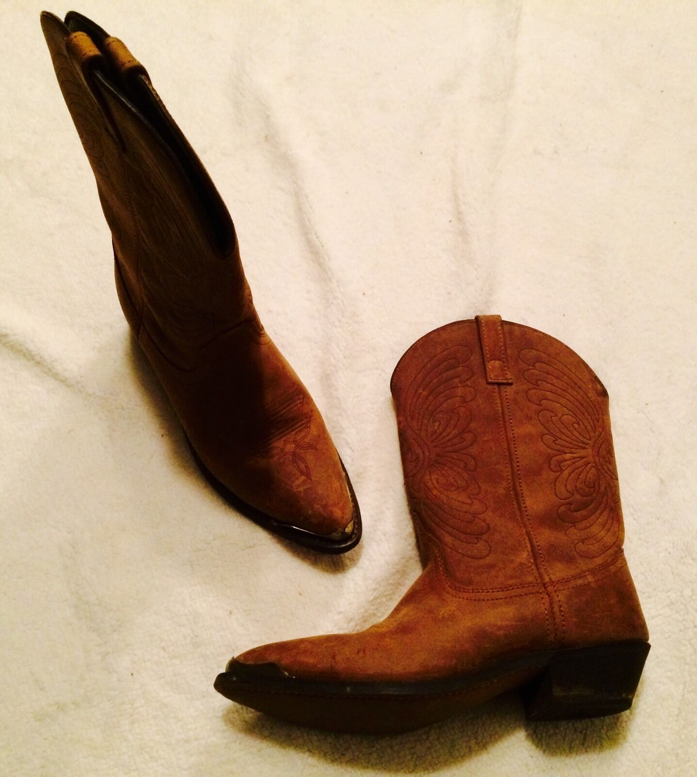 Masterson Womens Cowboy Boots 9.5 Med RB920... minimal wear.. Brown leather  200