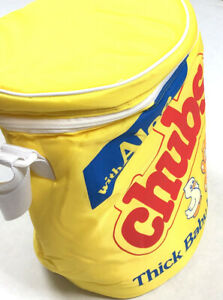 CHUBS-Playtex-Vintage-Yellow-Insulate-Diaper-Wipes-Bag-Cylindrical-Baby-RETRO