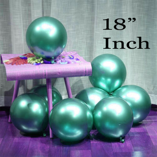 """18/"""" Inch Metallic Pearlised Chrome balloons AIR /& HELIUM QUALITY For All Occasio"""