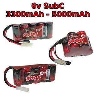 6V 3300-5000mAh SubC SC Premium Rennsport RC NiMh batterie pack + brauch