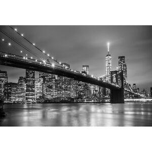 Quadro-Stampa-su-Pannello-in-Legno-MDF-Ponte-di-Brooklyn-e-skyline-di-downtown-M