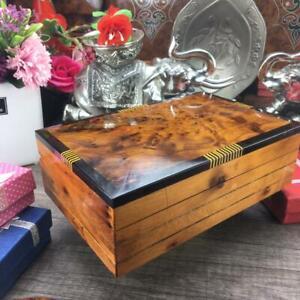 Keepsake Thuya Wooden box, engraved jewelry organizer thuya wooden storage gift