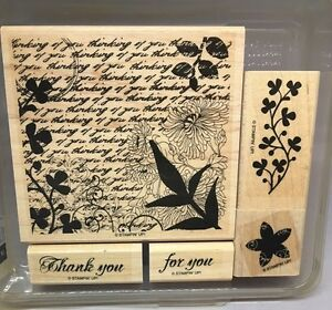 FRESH Wood Mounted Rubber Stamp by Stampin/' Up!