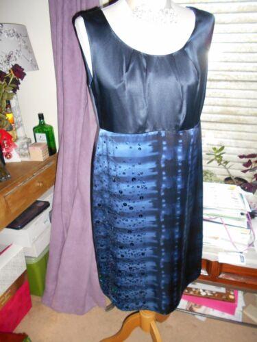 Bnwt Shift 100 S Dress paillettes £ blu Autograph Party 69 Beautiful 12 M seta YPqZxAx