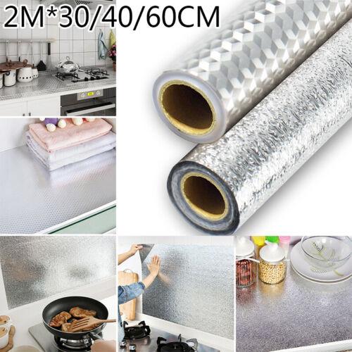 1* Kitchen Waterproof Anti-Oil Stick On Wall Tile Decal Sticker Self-adhesive 2M