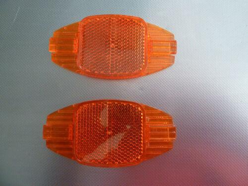 2 reflector orange wheel reflector bicycle