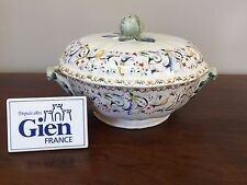 Gien TOSCANA Round Covered Vegetable Bowl ~ France