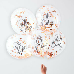 Oh-Baby-Rose-Gold-Confetti-Helium-Balloons-Baby-Shower-Unisex-Party-Decorations