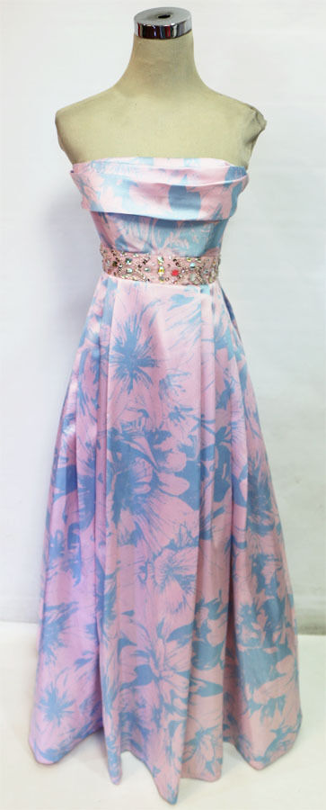 WINDSOR Pink bluee Prom Evening Formal Gown 7 -  170 NWT