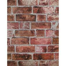 Puffy Textured Red Brick With Grey Grout Wallpaper HE1044