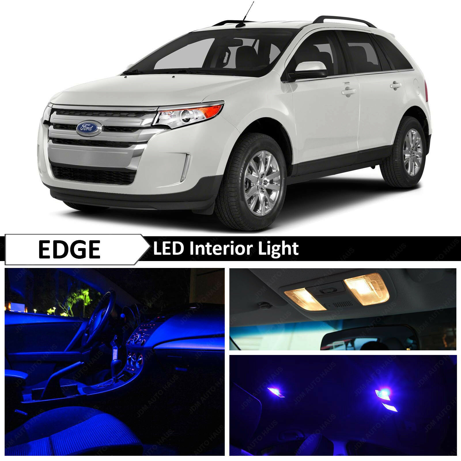 Details About X Blue Interior Led Lights Package Kit For   Ford Edge