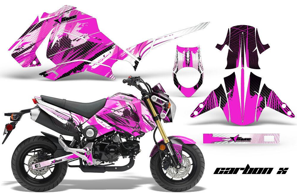 Motorrad Grafik Kit Sticker für Honda Grom 125 125 125 13-16 Carbonx Rosa 10cebc