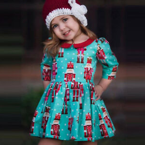 Baby-Toddler-Kids-Little-Girls-Christmas-Party-Prom-Dress-Outfits-Clothes-Autumn