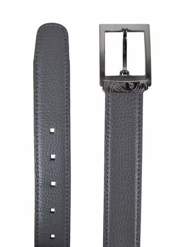 Versace Collection Men/'s Grained Leather Medusa Logo Buckle Belt