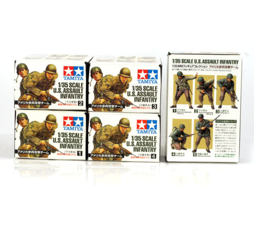 Details about  TAMIYA SET 26006 26007 26008 26009 26010 1/35 1:35 FIGURE COLLECTION US INFANTRY