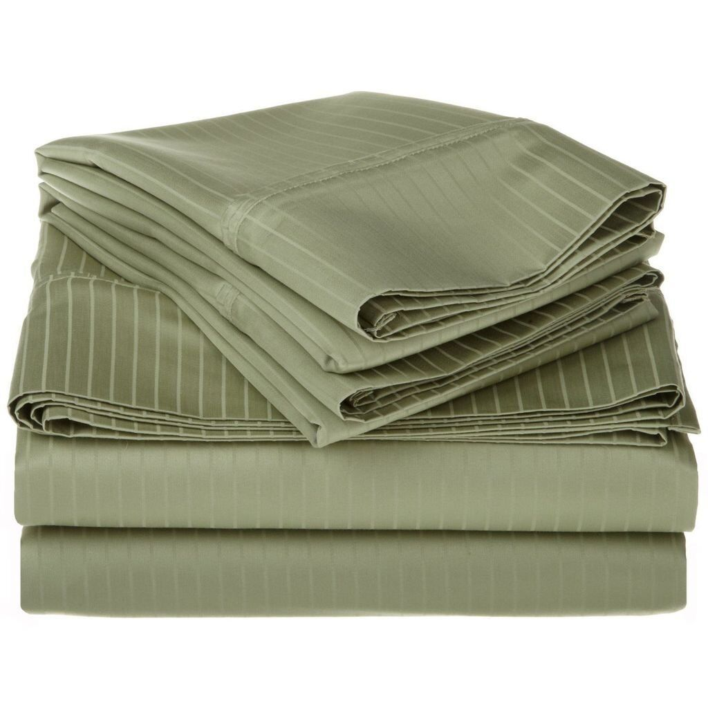 1500 Thread Count Egyptian Cotton Cal King Size Bed Sheets Set Bedding Green