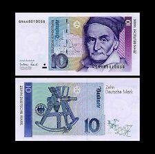 * * * 10 Deutsche Mark Geldschein 1999 Alte deutsche Währung * * *