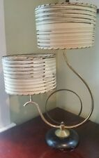 VINTAGE 1950s RETRO TABLE LAMP DUAL SHADE MID-CENTURY MODERN