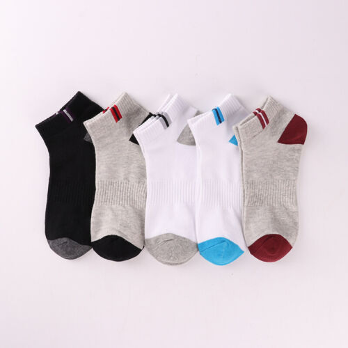 New 1//5 Pairs Mens Cotton Low Cut Ankle Socks Sports Casual Sock Breathable Soft