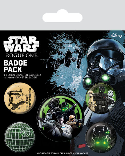 *NEW* Star Wars Rogue One (Empire) PACK OF 5 BADGES BY PYRAMID BP80562