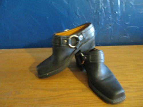 LKN Frye Harness Frye Belted Harness Mule Boots S