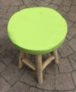 Astounding Details About Small Wooden Stool Foot Step Milking Seat Coffee Table Rustic Wood Green Seat Squirreltailoven Fun Painted Chair Ideas Images Squirreltailovenorg