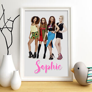 LITTLE MIX Personalised Poster A4 Print Wall Art Custom Name ✔ Fast Delivery ✔