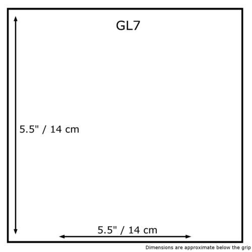 "100 x Borse Grip Seal plastica chiara Grip zip lock Auto-Seal 5.5/"" x 5.5/"" GL07"