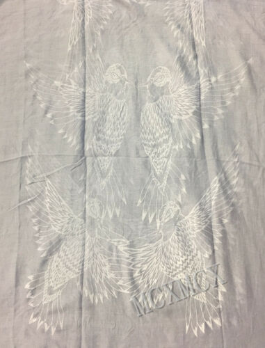 Women Ladies Long  Big Spread Wings Birds Print Pattern Shawl Scarf  Warp Stole
